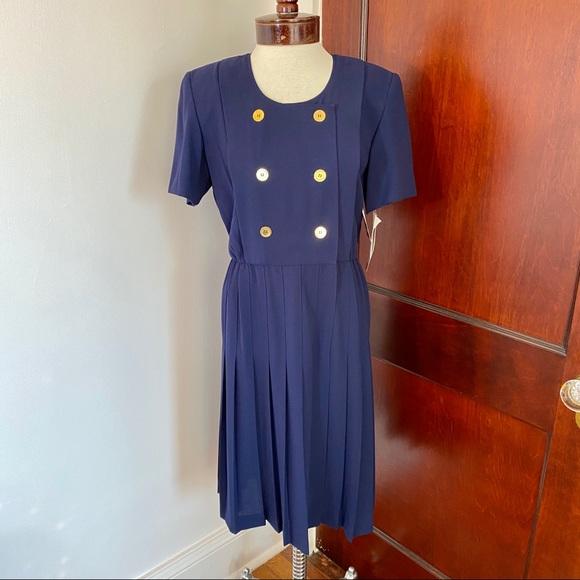 Liz Claiborne Navy Blue Vintage Dress Size 4